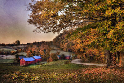 Barn Photograph - Pastel Sunrise On Jenne Farm - Vermont by Joann Vitali