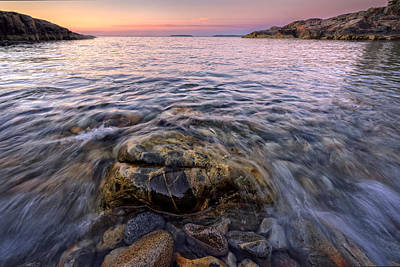 Maine Beach Photograph - Pastel Tide by Rick Berk