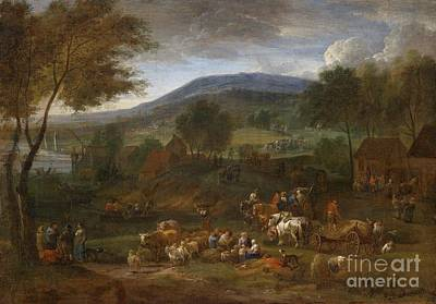 Digital Painting - Pastoral Landscape by Celestial Images
