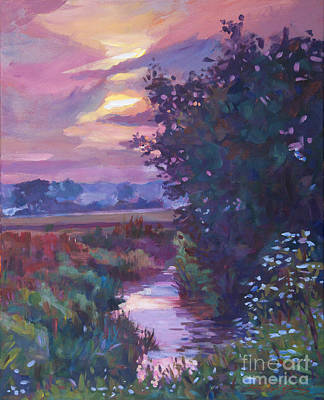 Creek Painting - Pastoral Morning by David Lloyd Glover