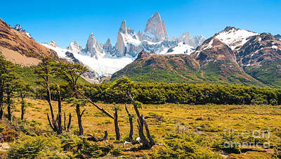 Argentina Photograph - Patagonia Landscape With Fitz Roy by JR Photography