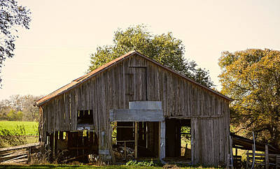 Patched Crumbling Barn Original by Linda Phelps