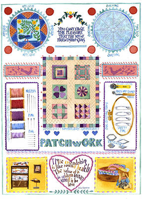 Patchwork Quilts Photograph - Patchwork by Julia Rowntree
