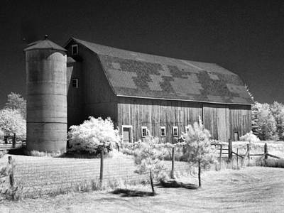 Photograph - Patchwork Roof Barn by Stephen Mack