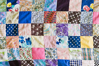 Fabric Quilt Photograph - Patchwork by Tom Gowanlock