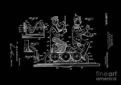 Cross Digital Art - Patent Art 1920 Toy Display by Lesa Fine