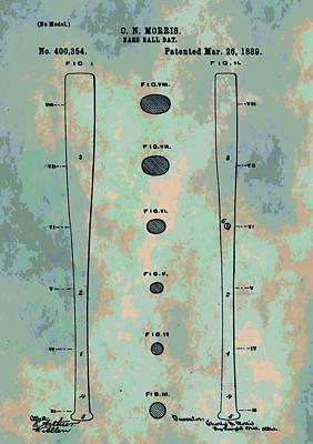 Bat Mixed Media - Patent Art Baseball Bat by Dan Sproul