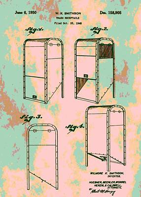 Patent Art Trash Can Print by Dan Sproul