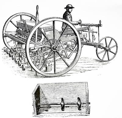 Patent Disc Drill Print by Universal History Archive/uig