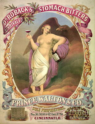 Patent Medicine Ad 1866 Print by Padre Art
