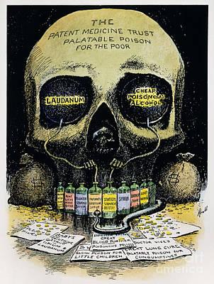 Patent Medicine Cartoon Print by Granger