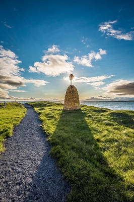 Path And Sign On Flatey Island Print by Panoramic Images