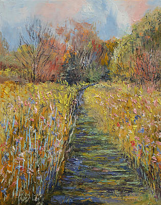 Arbres Painting - Path In The Meadow by Michael Creese