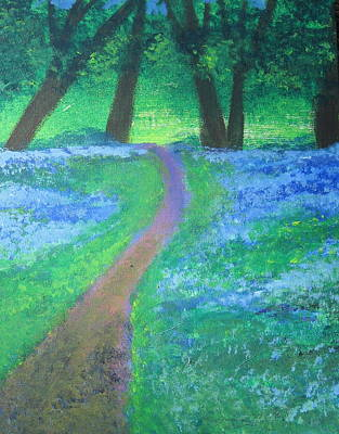 Path In Woods Print by Diana Riukas