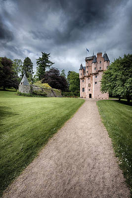 Path To Craigievar Castle Print by Dave Bowman
