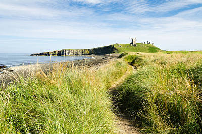 Path To Dunstanburgh  Castle Print by David Head