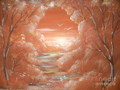 Landscape Painting - Path To Freedom 11 by Collin A Clarke