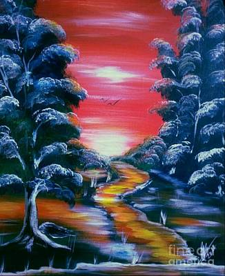 Modernart Painting - Path To Freedom by Collin A Clarke