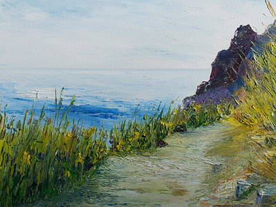 Conor Painting - Path To Lovers Cove by Conor Murphy