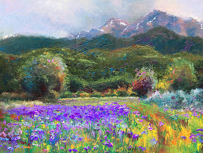 Irises Painting - Path To Nowhere by Talya Johnson