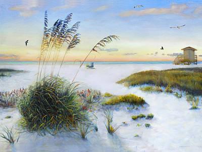 Path To Siesta Key Beach Print by Shawn McLoughlin