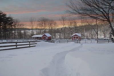 Path To The Barn Print by Fran J Scott