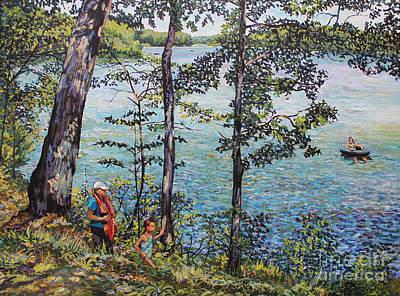 Bukowski Painting - Path To The Lake by William Bukowski