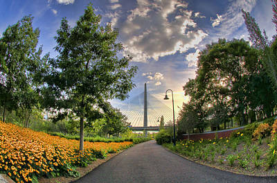 Path To Zakim-boston Print by Joann Vitali