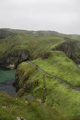 Pathway Carrick-a-rede Northern Ireland Print by Betsy C Knapp