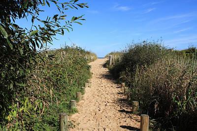 Pathway Leading To Omaha Beach Print by Aidan Moran