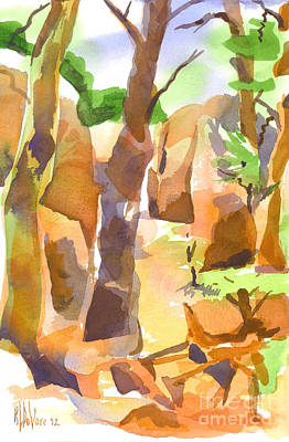 Pathway Through Elephant Rocks Print by Kip DeVore