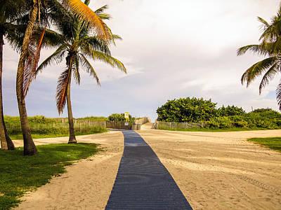 Pathway To The Beach Print by Zina Stromberg
