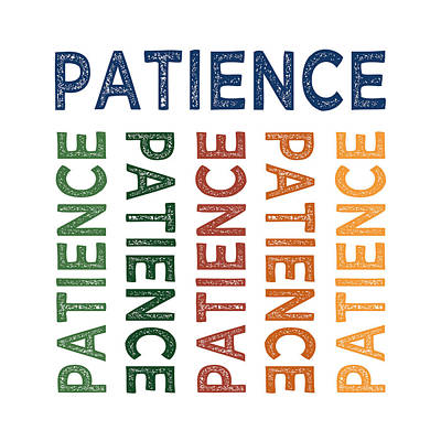 Patience Cute Colorful Print by Flo Karp