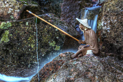 Flowing Wells Photograph - Patient Angler by Andrew Pacheco