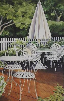 Patio Patterns Print by Sue Stephan Foster
