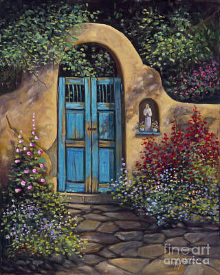 Entrance Door Painting - Patio by Ricardo Chavez-Mendez