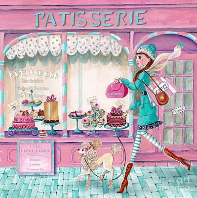 Doll Mixed Media - Patisserie by Caroline Bonne-Muller