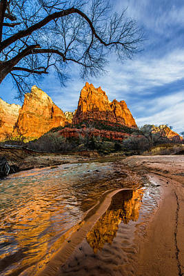 Buttes Photograph - Patriarchs Of Zion by Chad Dutson