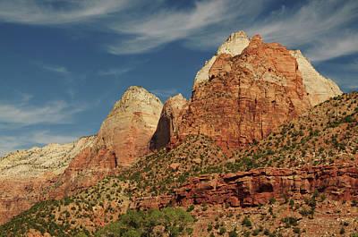 Zion National Park Photograph - Patriarchs, Zion National Park, Utah by Michel Hersen