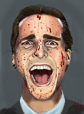 Christian Bale Digital Art - Patrick Bateman by Vinny John Usuriello