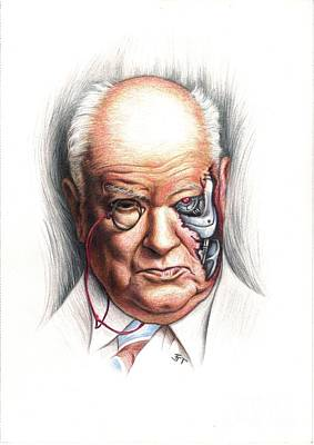 Drawing - Patrick Moore Terminator by Tim Thorpe