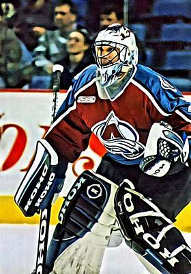 Roy Painting - Patrick Roy by Florian Rodarte