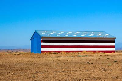 Farms-n-barns Photograph - Patriotic Barn by Nicholas Blackwell