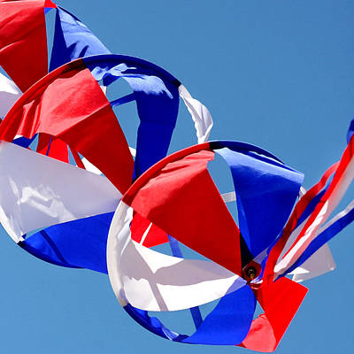 Flutter Photograph - Patriotic Kite by Art Block Collections