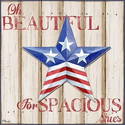 Painting - Patriotic Spirit Barn Star II by Paul Brent