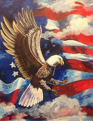 American Eagle Painting - Patriotism by Dave Farrow