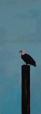 Patriotism Woody Guthrie Style Print by Carol Meckling