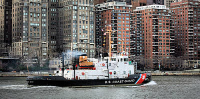 Penobscot Bay Photograph - Patrolling The East River by JC Findley