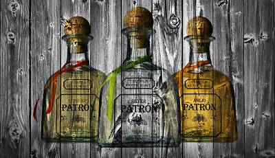 Liquor Mixed Media - Patron Barn Door by Dan Sproul