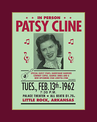 Graphic Digital Art Painting - Patsy Cline by Gary Grayson